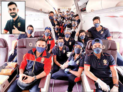 Virat charters flight to Dubai from city as RCB fly from Bangalore