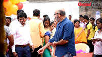 Veteran actor Sathyaraj and bodybuilder M Kamaraj inagurated bodyzeal gym in Coimbatore