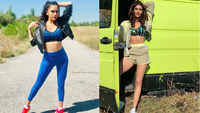 Amruta Khanvilkar and Karishma Tanna flaunt their curves in Berlin
