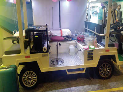 Indoor ambulance service at Kempegowda International Airport