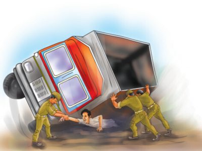 Thane: Drunk driver rams garbage truck into tea stall at Bhiwandi; two dead, six injured