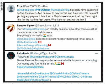Canada-bound students in limbo