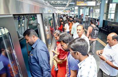 Metro was packed, you say? Not really, claims BMRCL