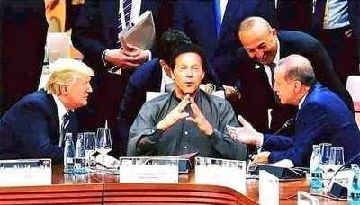 Fake alert: Old image doctored to show Imran Khan flanked by global leaders