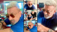 After beating cancer, Dutt rocks new platinum blonde hair