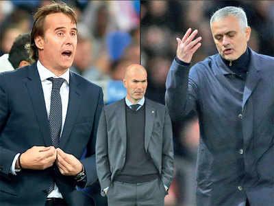 This football merry go-round involves Zinedine Zidane, Jose Mourinho and Real Madrid's Julen Lopetegui