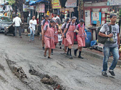 'Repaired' road in Matunga just as bad as earlier one