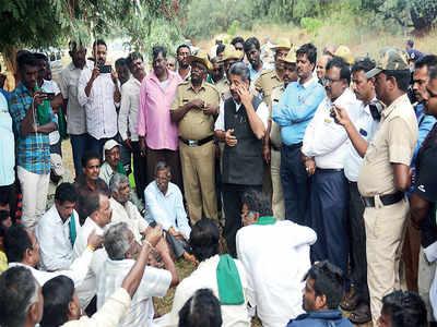 Farmers block BDA's survey plan for PRR