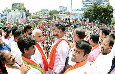 Mangaluru: BJP defies orders, Mangaluru on edge