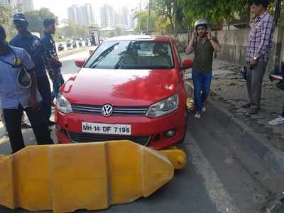 Woman rams car at Mulund Toll Naka, arrested