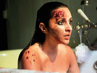 Scared Actress' Stunning Bruised Look