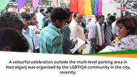 A colourful celebration by the LGBTIQA community in the city