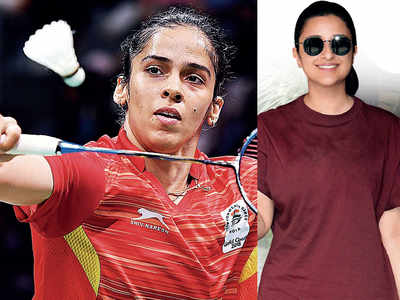 Parineeti Chopra practicing badminton while shooting for Saina Nehwal biopic