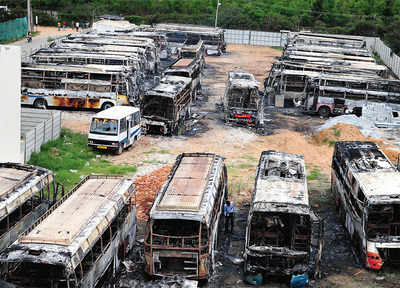 Woman who burnt 42 buses is only 22