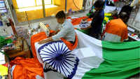 Independence Day: Artisans make National flag at a workshop in Mumbai