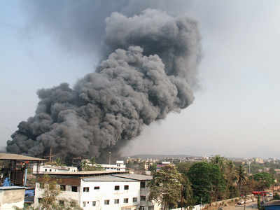 Fire engulfs chemical factory in Dombivali