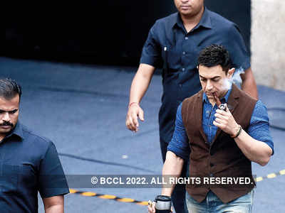 Spotted: Aamir Khan at a studio in Goregaon