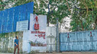 RK Studios razed but its iconic gate stays