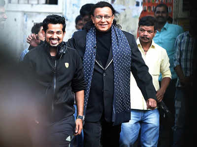 Mithun Chakraborty spotted shooting in Goregaon