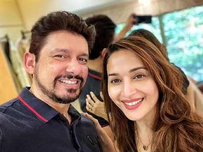 Madhuri Dixit Nene experiments with husband Dr Sriram Nene's hairstyle