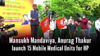Mansukh Mandaviya, Anurag Thakur launch 15 Mobile Medical Units for HP