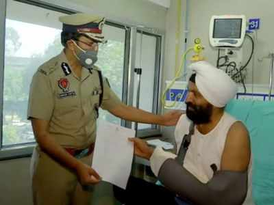 Punjab SI Harjeet Singh, whose hand was cut off by violators, discharged after surgery
