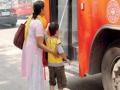 Bus driver thrashed in front of school kids