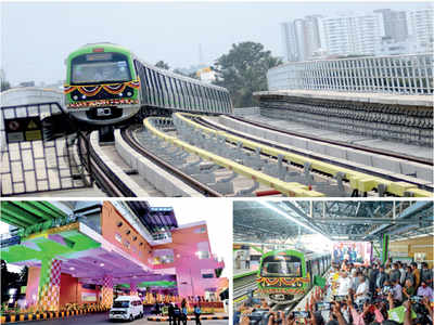 BMRCL spent Rs 1,590 cr on the 6-km Metro line