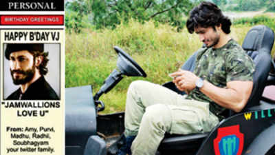Vidyut Jammwal's birthday wishes 'ad' up