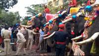 Dasara Mahotsav-2021: Elephants receive a grand welcome at Mysuru Palace