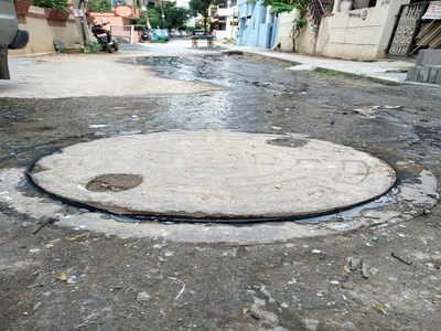 In Shivananda Nagar, it smells like a manhole