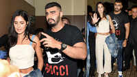 Arjun Kapoor turns protective friend, escorts Katrina Kaif to her car