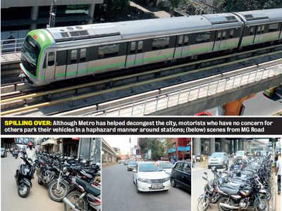 Metro motorists turn Bengaluru into a Parkistan