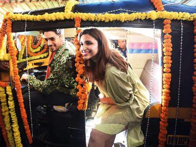 Parineeti Chopra, Sidharth Malhotra spotted in Andheri