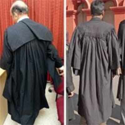 Many frowns over lawyers\' gown
