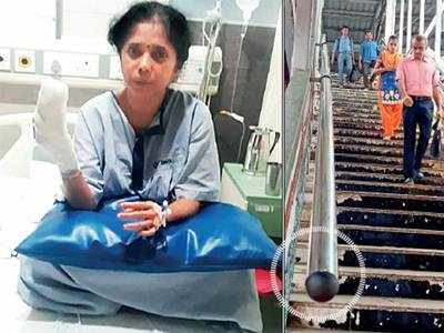 Woman loses a portion of finger while alighting staircase at Malad railway station