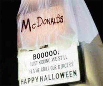Burger King's Halloween costume grills McDonald's
