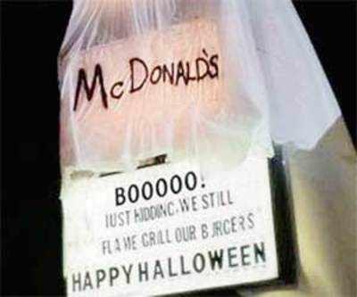 Burger King's Halloween costume grills McDonald's