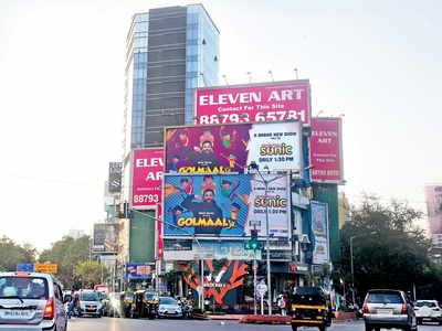 BMC begins stripping buildings of hoardings