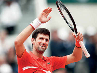 Novak Djokovic plays in front of son for the first time, wins round three at the French open