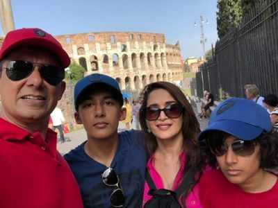Madhuri Dixit Nene's husband Dr Shriram Nene heads to New York for college recce