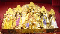 This Durga idol in Kolkata is made of around 50 kg gold