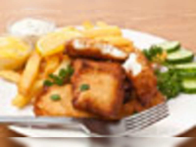 Fish n' chips, a great Indian delicacy