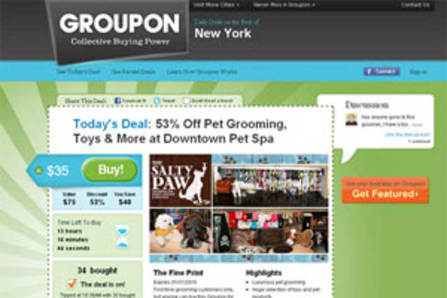 Groupon has re-branded its India business as Crazeal.com (www.crazeal.com).