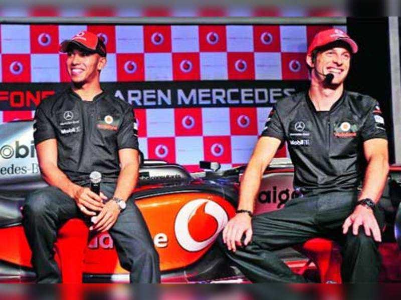 Lewis Hamilton & Jenson Button at Grand Pix event
