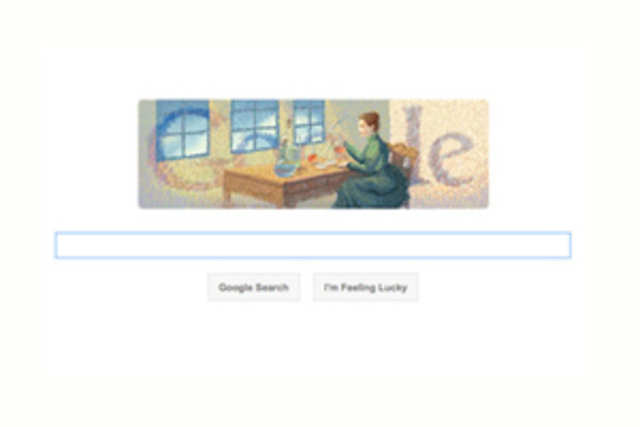 Google Doodle today pays tribute to Noble Prize winner Marie Curie.