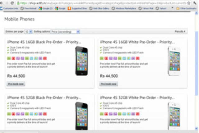 The prices for Apple iPhone 4S are out.
