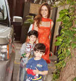 Suzanne Roshan with sons