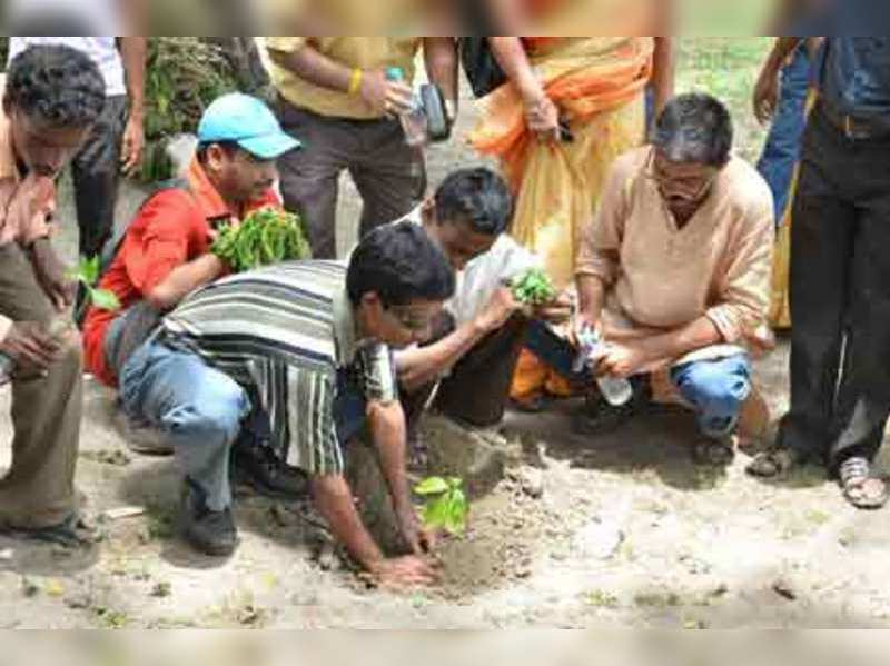 Visually impaired kids plant trees on World Environment Day