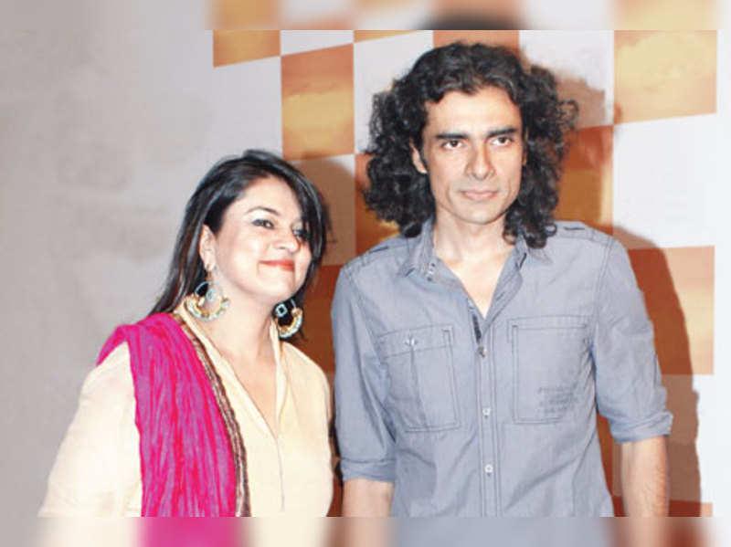 Imtiaz Ali with wife Preety